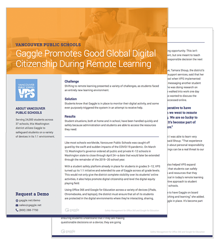 Gaggle Promotes Good Global Digital Citizenship During Remote Learning